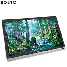 Bosto BT 22U mini gráfico magia desenho tablet monitor para artista com tela à prova dwaterproof água e bateria livre stylus arte luva suporte