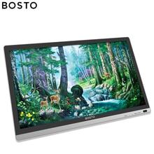 Bosto BT 22U mini graficzny magiczny Tablet graficzny Monitor dla artysty z wodoodporny ekran i wolne od baterii Stylus Art Glove Stand
