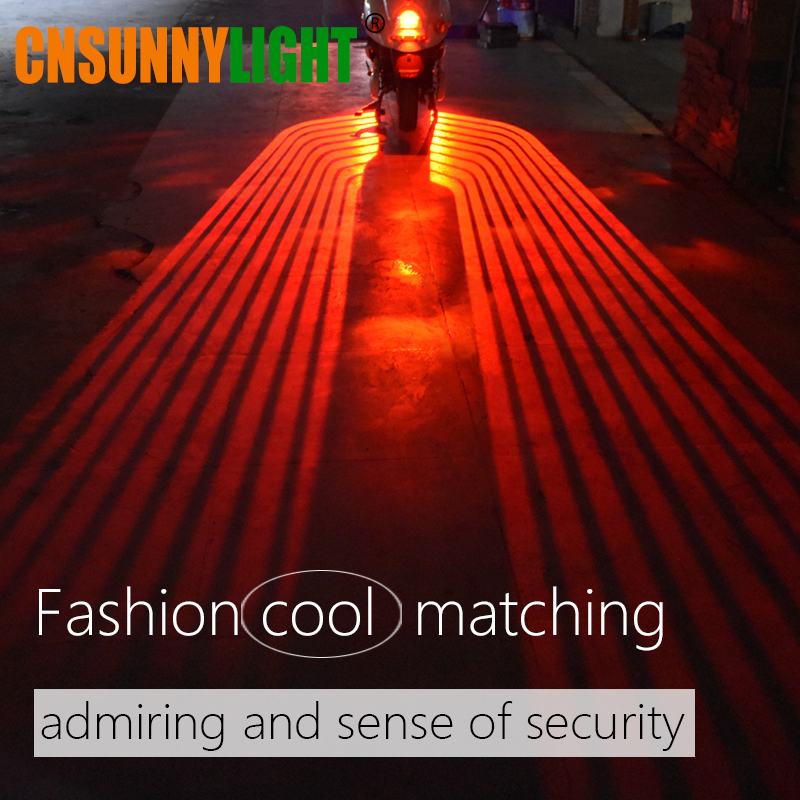CNSUNNYLIGHT Motorcycle LED Decorative Light Welcome Emergency Signal Wings Lamp Projector Shadow Lighting Fog Warning Lights