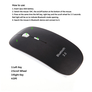 Image 4 - HXSJ Portable Bluetooth Mouse 3.0 Mini Wireless Mouse Silent Optical Game Mouse 1600DPI Click Gaming Mice for Mac PC Laptop