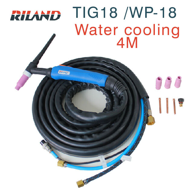 Ruiling tig welding machine  accessories tig torch WP-18 4m tig gun /Argon arc welding gun wp 17f sr 17f tig welding torch complete 20feet 6meter soldering iron flexible