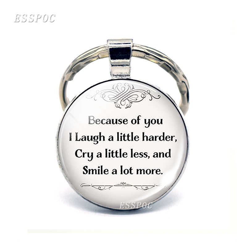 Best Friends Quote Key Chain Ring \