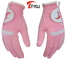 TTYGJ golf gloves Women's gloves microfiber cloth gloves soft breathable wear-resistant Free shipping Hot brand in China