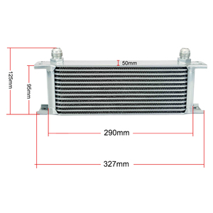 Image 5 - UNIVERSAL 13 ROWS OIL COOLER+OIL FILTER SANDWICH ADAPTER + STAINLESS STEEL BRAIDED AN10 HOSE + Oil Cooler Mounting Bracket