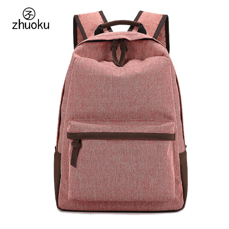 Backpack women men Rucksack Good quality Canvas Backpack school bags for girls Laptop backpack Free shipping