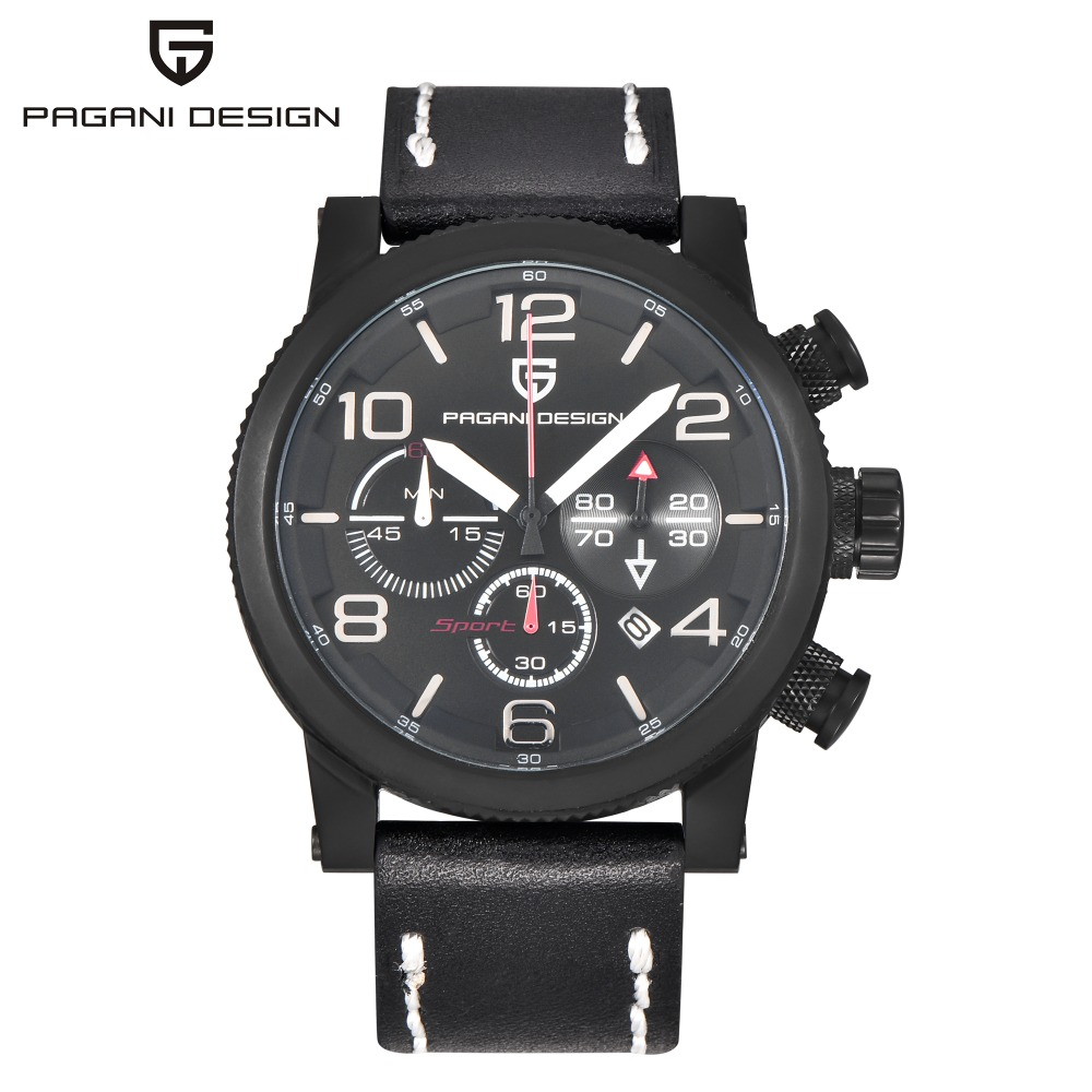 Relogio Masculino PAGANI DESIGN Mens font b Watches b font Leather Sport Quartz font b Watch