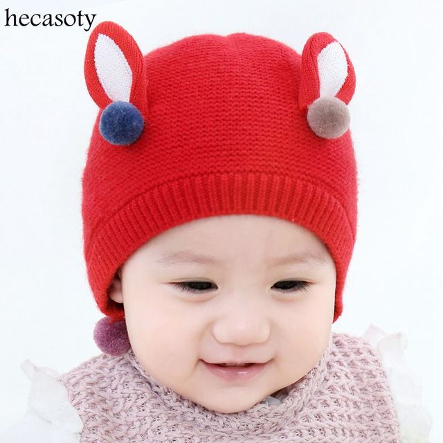 c82565841 Baby Hats Infant Newborn Earmuffs Knitted Caps Girl Boy Cap Unisex Beanie  Warm Hats Toddlers Autumn Winter Children Fashion Hat-in Hats & Caps from  ...