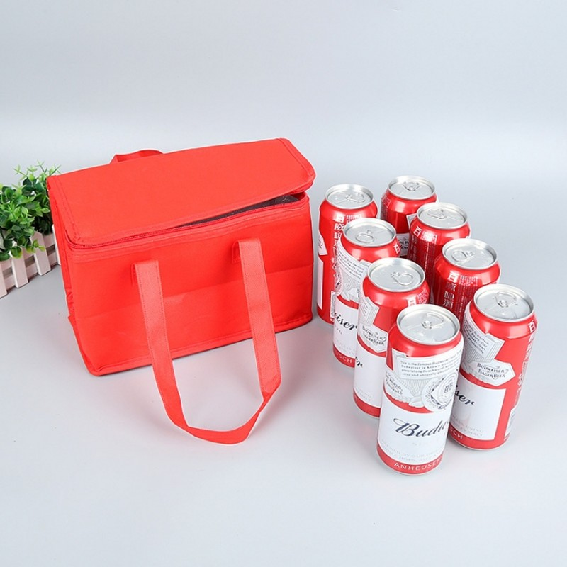 Outdoor Beer Picnic Bag Handheld Insulation Pack Bag for Dinner Picnic Foil Food Warm Bag Cooler Tote Lunch Insulated Cold in Picnic Bags from Sports Entertainment