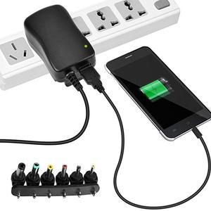 Image 3 - 3 V 12 V Sạc Thông Minh 30W Đa Năng AC/DC Adapter Nguồn AC 110 240V Với 6 Adapter Và Cổng USB 5V 2.1 US/EU/Phích Cắm UK