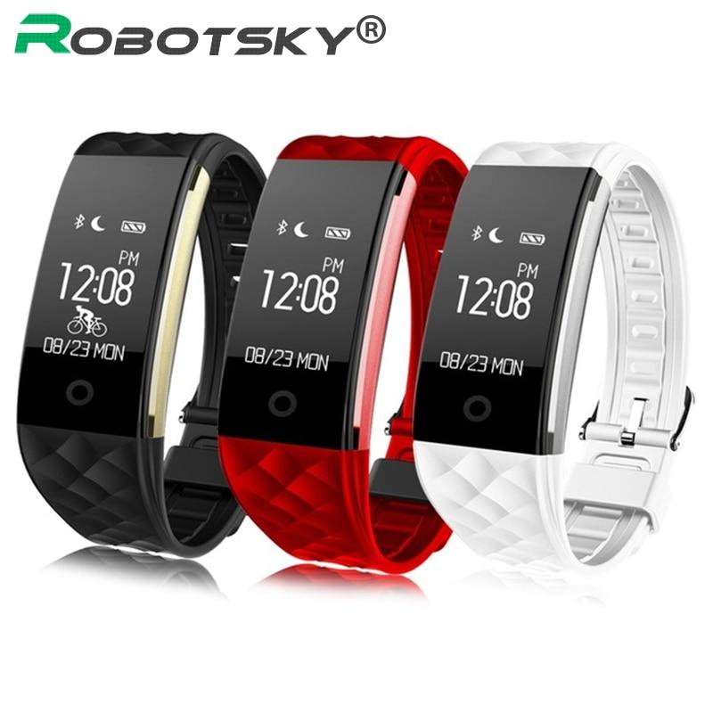 <font><b>S2</b></font> Smart Wristband Heart Rate Monitor Pedometer IP67 Sport Fitness Bracelet Tracker <font><b>Bluetooth</b></font> For Android IOS PK miband 2