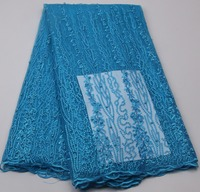 New Design African Lace Fabric High Quality Fashion French Tulle Lace With Beads And Stones Lace