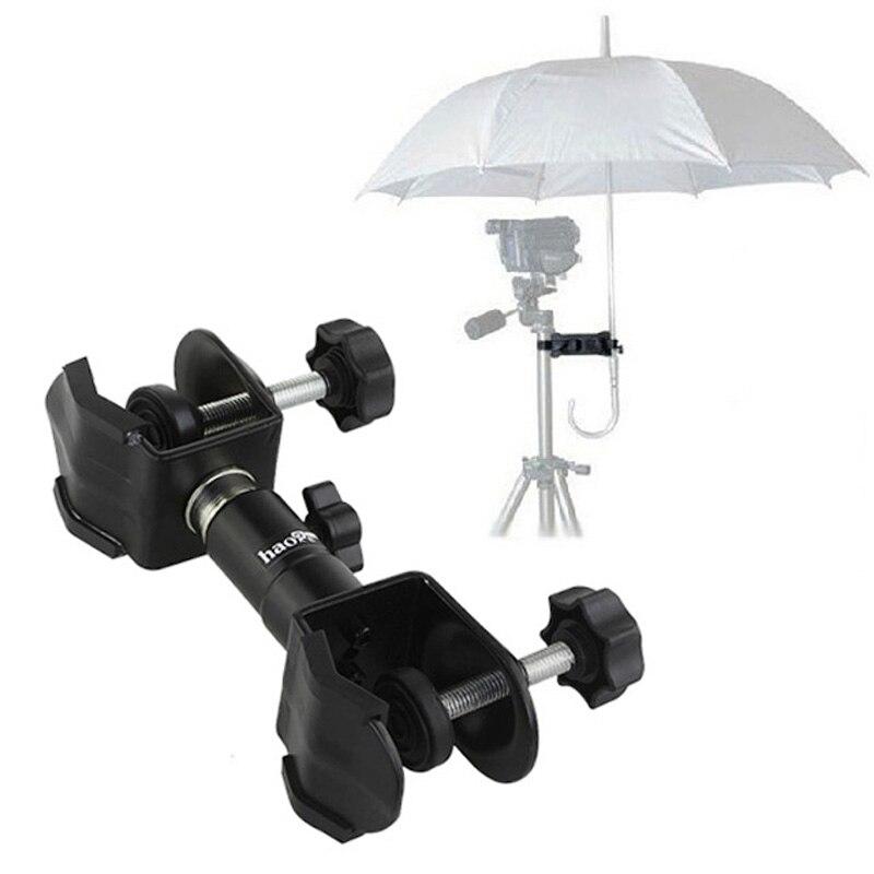 Roadfisher Aluminum Alloy Camera Tripod Umbrella Holder Waterproof Rainproof Clamp Fixing Photography For DSLR Camera Pod Stand