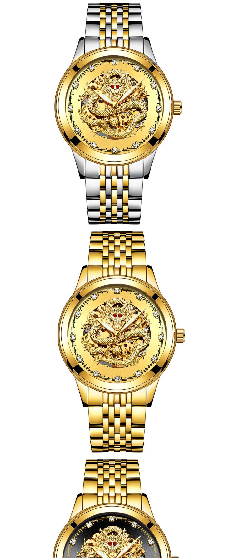 HTB1ngkbgAzoK1RjSZFlq6yi4VXaV TEVISE Men Mechanical Watch Luxurious Automatic Winding Watches Waterproof Skeleton Hollow Gold Dragon Clock Relogio Masculino