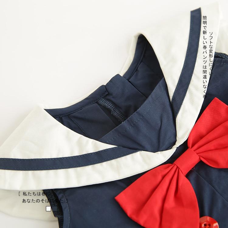 Celveroso nieuwe zomer baby meisje Jurk katoenen strik Baby - Kinderkleding - Foto 5