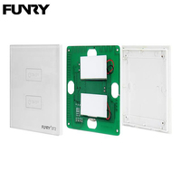 FUNRY ST2 2Gang Wireless Remote Switch Controller Smart Touch Steel Crystal Glass Panel Scenario Setting Light