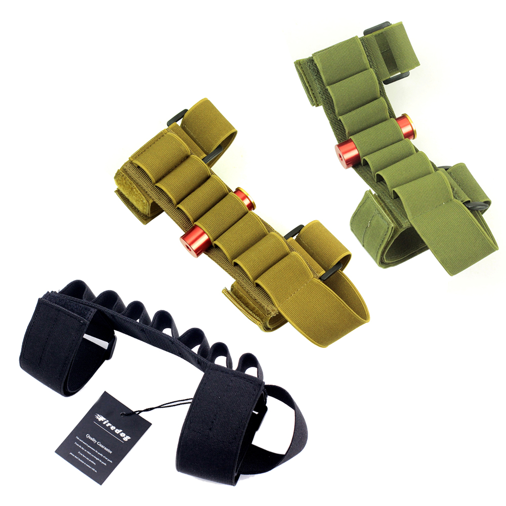 Tactische Buttstock Shotgun Shell Houder Carrier Ammo pouch Voor 12G / 20G LINKS / RECHTS