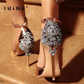 LALA IKAI Women Crystal Glitter Sandals