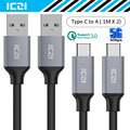 USB C to USB 3.0 Cable 2 Pack 1M X 2 Charge Sync Data Type C USB 3.0 Cable Macbook Chromebook Pixel Nexus 6P and More--ICZI