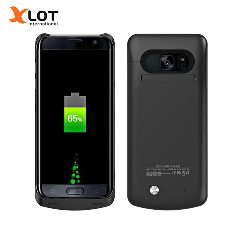 bilder für Xlot Ladegerät Fall für Samsung galaxy S7 S7 Rand 4200/5200 mAh Power Case Externes Backup Pack lade Fall Abdeckung
