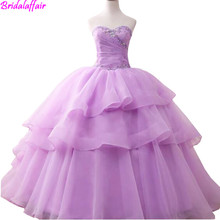 Modern Prom Gown Purple Strapless Long Puffy Dress Evening Dresses Crystal For Women Ball