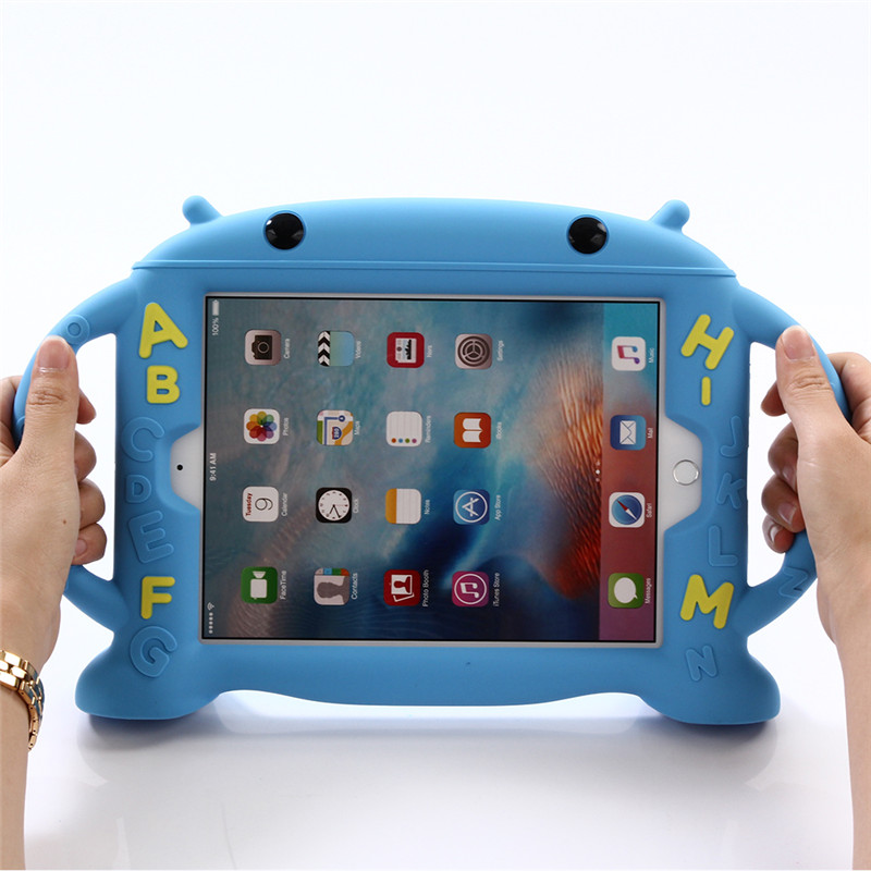 For Apple Ipad Air 2 Silicone Durable Shockproof Rubber Case For Ipad 6 Funda Coque Children Kids Handle Stand Protective Cover цена и фото
