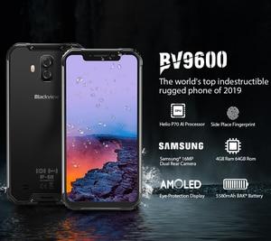 "Image 2 - Blackview BV9600 Robuuste Waterdichte Helio P70 Global 4G Mobiele Telefoon 6.21 ""Android 9.0 Smartphone 4GB RAM 64GB MT6771T 5580mAh"