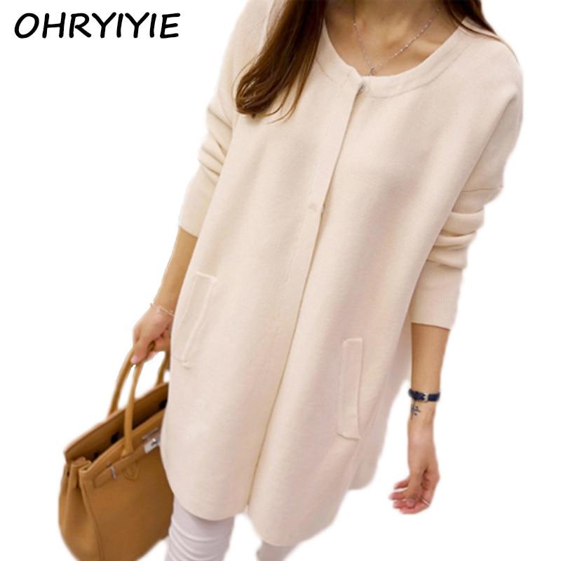 OHRYIYIE . Store OHRYIYIE Long Cardigan Women 2017 Autumn Winter Fashion Loose Sweater Women Long Sleeve Knit Cardigan Female Tricot Pull Femme