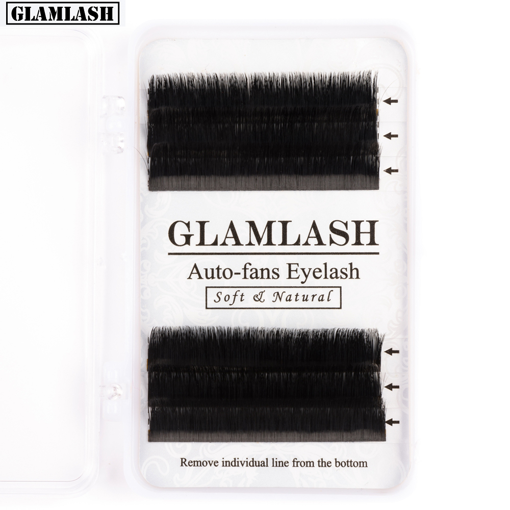 GLAMLASH Easy Fan Eyelash Extension Automatic Flowering False Eyelash Instant Bloom Volume Fast Fan Faux Mink Lash Cilia