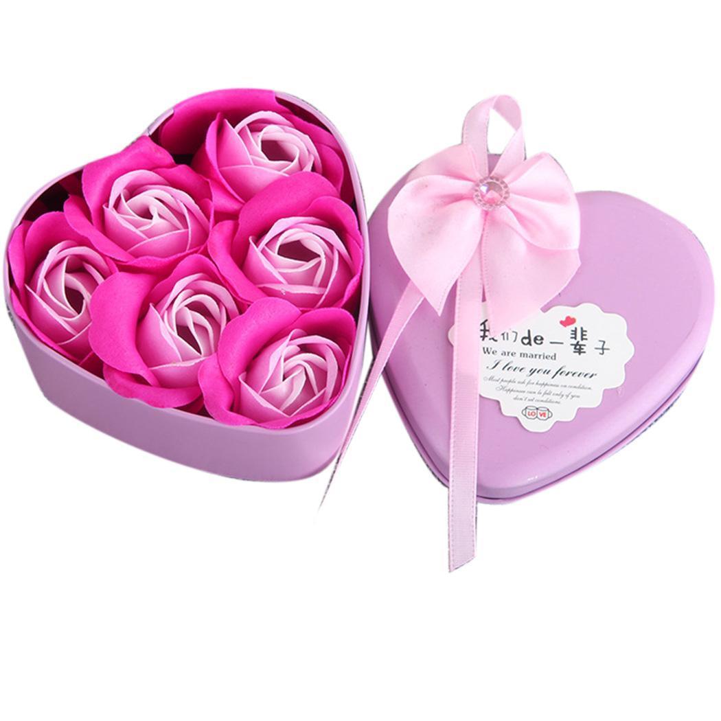 Valentine Wedding Mothers Day Plush Bear Shape Soap Heart, Rose, Doll Party, Festival, Etc Rose Gift Set