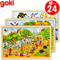 24 PCs cartoon wooden puzzles/ brand assemble wood puzzle toys /kids Children early learning educational toys,  30*20cm