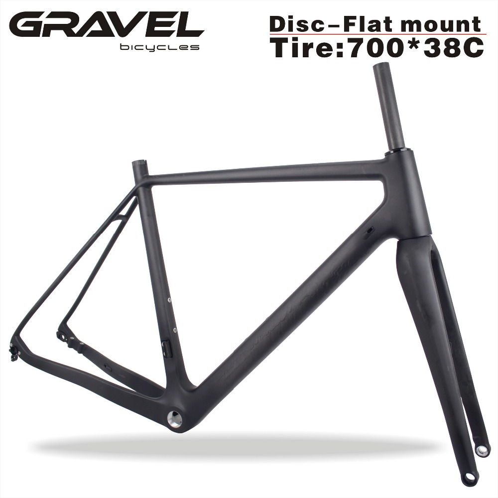2019 MIRACLE 700*38C Bicicleta Carbon Bike Frame 49/52/54/56/58cm Carbon Gravel Di2 Bicycle Cyclocross Frameset GR029