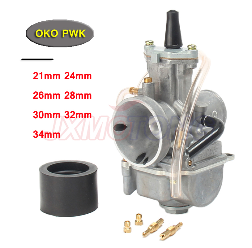 Universal Motorcycle 4T Carb for OKO Carburetor pwk 21 24 26 28 30 32 34 mm With Power Jet Fit Race Scooter ATV UTV