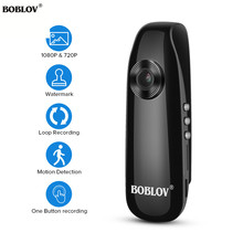 BOBLOV 1080P Full HD Mini Camera Digital Video Recorder Police Body Loop Recording H.264 Camcorder Wide Angle pen camera