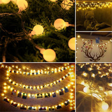 5M 50 LED Garland USB 5v Ball Fairy String Lights for New Year Christmas Festival Party Wedding Lamp Home Decoration led light string lights new 1 5m 3m 6m fairy garland led ball waterproof for christmas tree wedding home indoor decoration battery powered