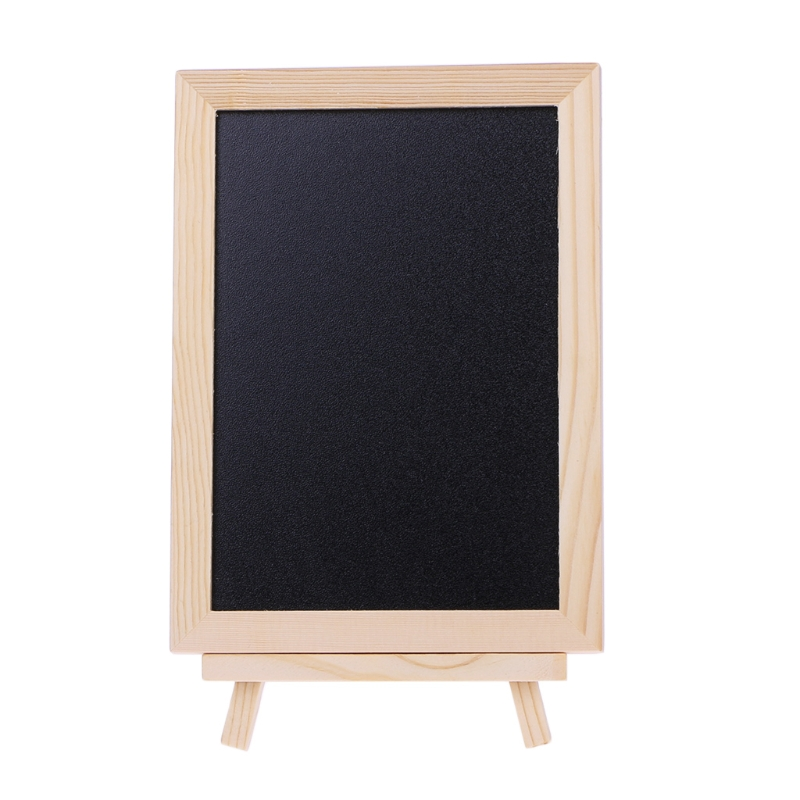 Desktop Message Board Blackboard Wood Tabletop Chalkboard Double Sided Blackboard School Supplies 10166