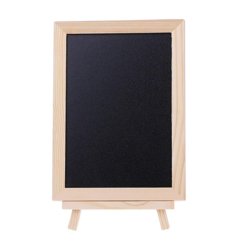 Desktop Message Board Blackboard Wood Tabletop Chalkboard Double Sided Blackboard School Supplies 10166