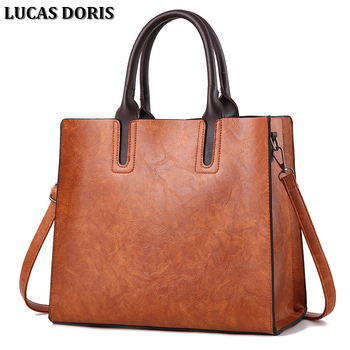 Large Vintage Tote Bags for Women Pu Leather Handbag Women Portable Ladies Shoulder Bag Black Hand Bags Sac a Main Femme handtas grande bolsas femininas de couro