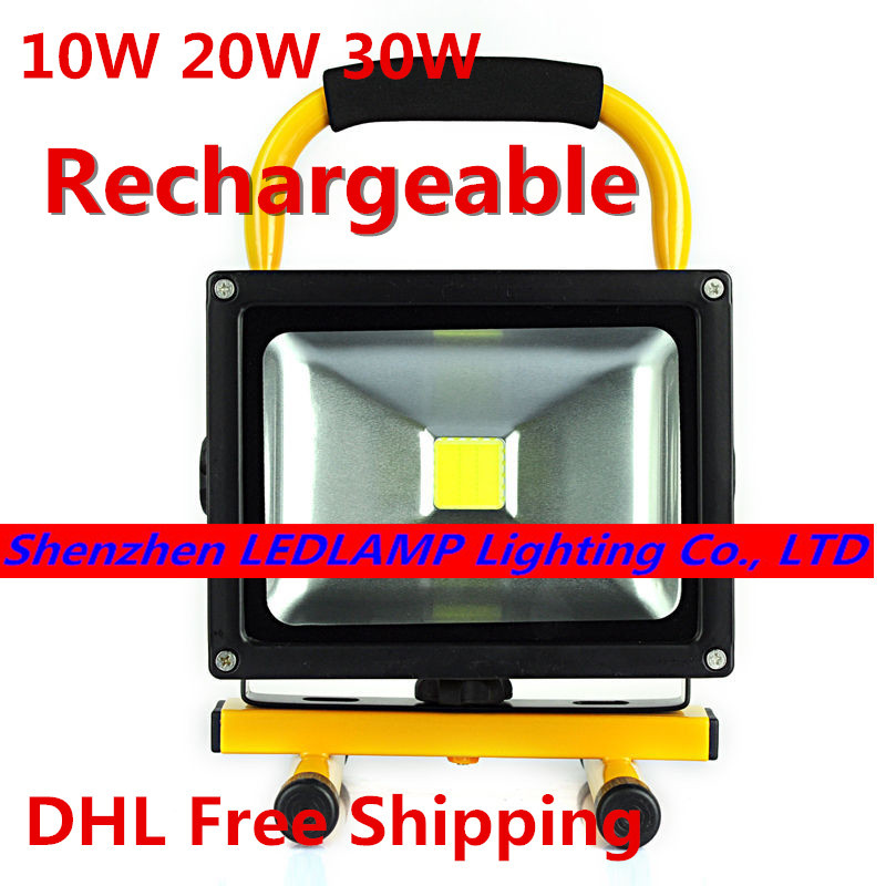 Led Floodlight With Battery Rechargeable Led Flood Light - Exterior Led Emergency Lighting