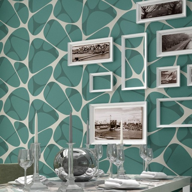 Freies Verschiffen Moderne Geometrie Wohnzimmer TV Hintergrundbild Creme  Lila Vogelnest Vliestapete Schrott Gold Tapete