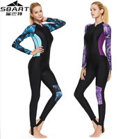 SBART New Lycra Women One Piece Diving suit for Snorkeling Surfing Swim stinger suit UPF50+ Dive Skin Wetsuit Full body Swimwear