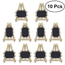 10pcs Mini Rectangle Chalkboards With Easel And Decorative Border For Wedding Party Table Number Sign Place