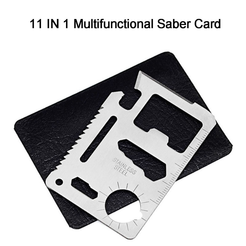11 In 1 Multifunction Outdoor Pocket Saber Card Tool Multi Tools Hunting Survival Camping Pocket Military Card Knife Wholesale