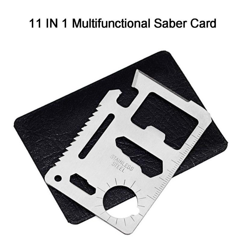 11 In 1 Multifunction Card Field survival Camping Pocket tools