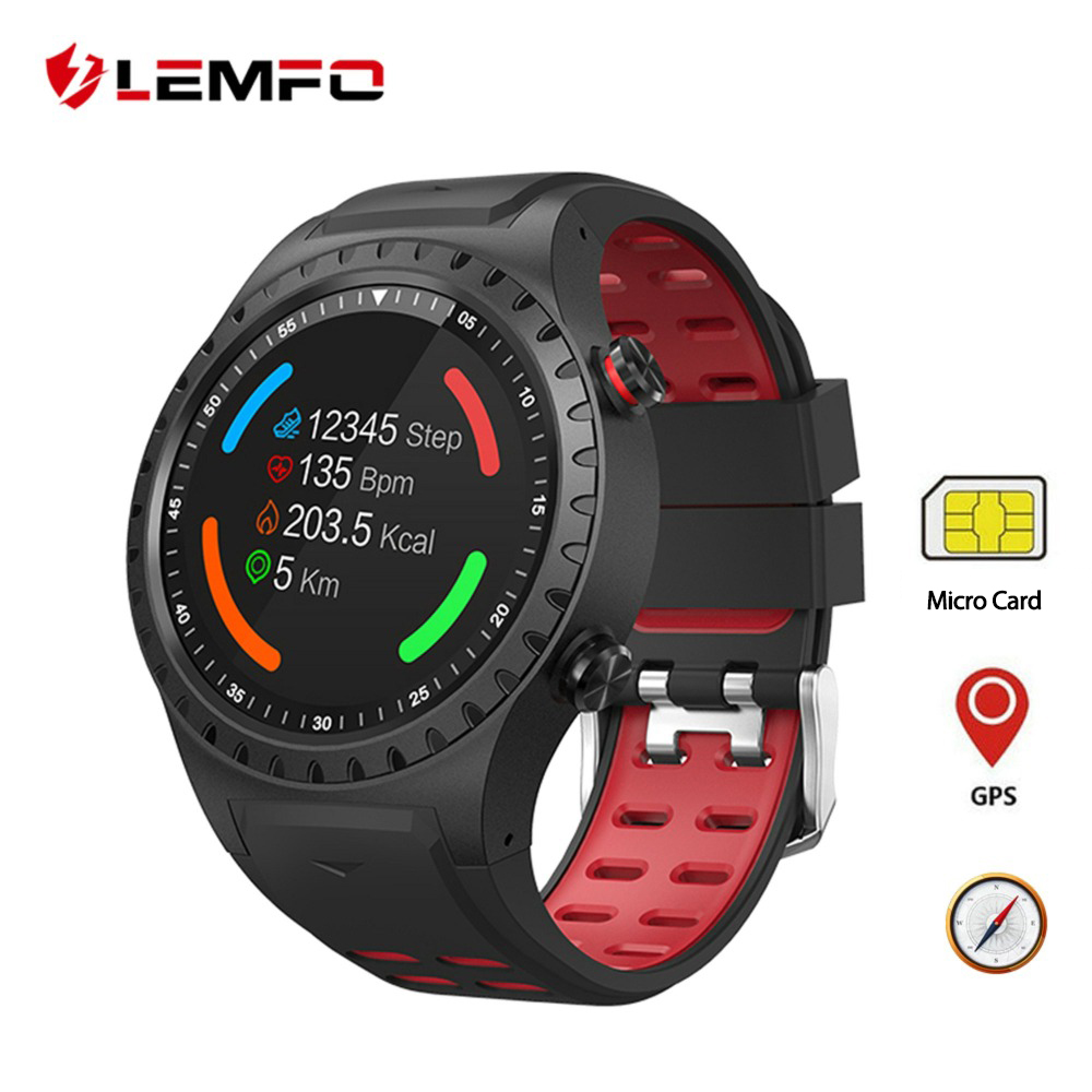 LEMFO M1 Smart Watch GPS Support Bluetooth Dail Call SIM Card IP67 Waterproof Heart Rate Monitor