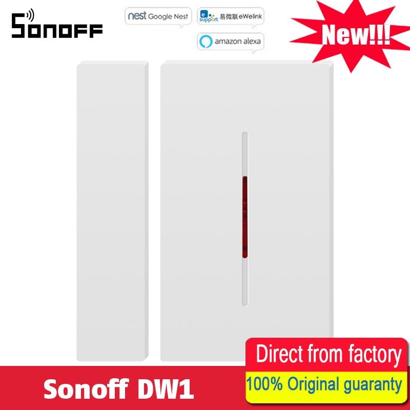 New Original Sonoff DW1 433 Porte et Fenêtre D'alarme Capteur Smart Domotique Fonctionne Avec wifi pour La Maison D'alarme de Sécurité système Alexa