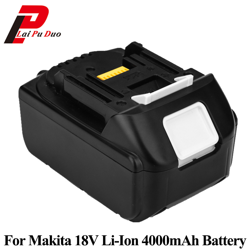 18V 4.0Ah Li-Ion Replacement Power Tool Battery For MAKITA: BL1830 LXT400 194205-3 BDF452HW 194309-1 BJR181 LXT401 bl1830 tool accessory electric drill li ion battery 18v 3000mah for makita 194205 3 194309 1 lxt400 18v 3 0ah power tool parts page 8