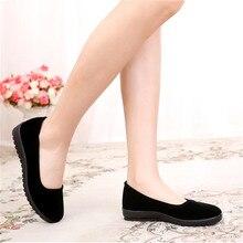 Cresfimix women fashion sweet wedge heel black slip on cloth shoes