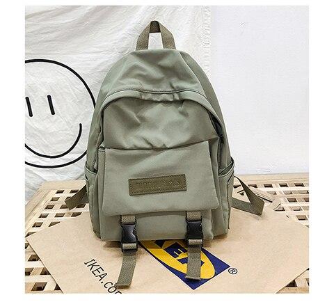 HTB1ngmVXrj1gK0jSZFuq6ArHpXaI 2019 Backpack Women Backpack Fashion Women Shoulder Bag solid color School Bag For Teenage Girl Children Backpacks Travel Bag
