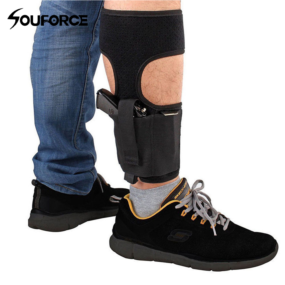 Concealed Carry Ankle Leg Holster for Glock 17 19 22 23 Ruger Lcp Sig 9mm Gun Pistol image