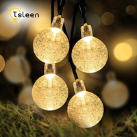 TSLEEN 1PC Crystal Ball LED Fairy String Light Outdoor Lighting Wedding Christmas Party Decoration Garland Solar